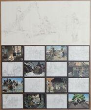 LE GALL Theodore Poussin Lot 16 cartes postales + 3 ex-libris num signés 21x30