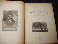 "1893 ITALIAN ""THE MYSTERIOUS ISLAND"" JULES VERNE 154 ENGRAVINGS and MAP!!"
