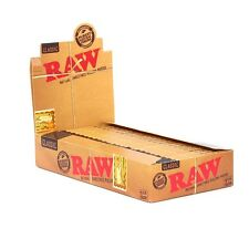 24pk RAW Classic Hemp Gum Vegan Rolling Papers Full Box Natural Paper 1 1/4 Size