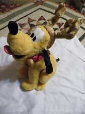 Disney Store Exclusive Pluto Christmas Reindeer Plush Toy