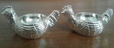BIRKS Silver Plate Chicken Egg Cups Set of 2