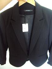 PORTMANS crop black corporate JACKET BLAZE size 14 NWT gathered short sleeve