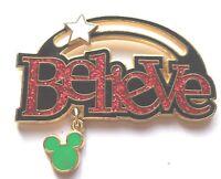 Disney Pin Badge Believe (Dangle/Slider/Sparkle)