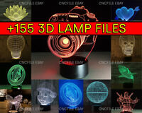 155+ 3d Vector Illusion Acrylic Lamp Light File LED Cut Laser CNC Router dxf, Sv