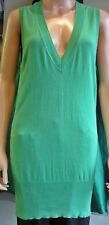Ladies Atmosphere Sleeveless Tunic Vest 100% Cotton Deep V Neck Size 10