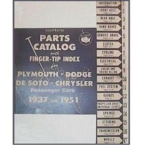 Illustrated MoPar Parts Digest for 1937-51 Plymouth - Dodge - DeSoto - Chrysler