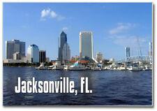 Jacksonville Skyline, Florida, FL, 2x3 Locker Souvenir Fridge Magnet #FLJA800