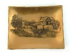"""Wendell August Forge Solid Bronze Amish Buggy Wagon Farmhouse Barn 5"""" X 4"""""""