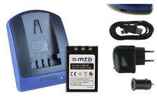 Batteria+Caricatore (USB) Li-10B/12B per Olympus C-50, C-60, C-70, C-470 Zoom
