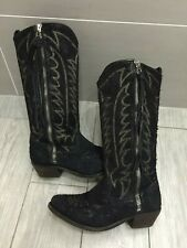 LADIES GENUINE ALLSAINTS TALL LEATHER RANCH COWBOY WESTERN BOOTS, UK 5