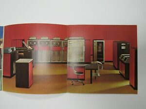 """Early IBM 1965 Brochure """"What is a Computer"""" Mainframe Punch Cards Fold Out"""