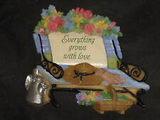 Decorative Refrigerator Magnets Bench Flowers Hat Basket Watering Can NEW!