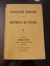 (PRL) 1964 PANAMA LEGISLACION MARITIMA VINTAGE CODE RAR LEGISLAZIONE MARITTIMA