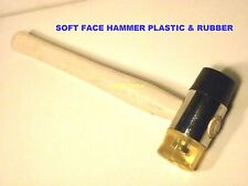 HAMMER SOFT FACE DOUBLE END RUBBER & PLASTIC 40mm  BRAND NEW.