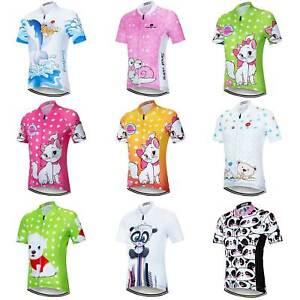 Boys / Girls Short Sleeve Cycling Jersey Kids Bike Clothing Cycle Top S-XXXL