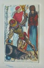 "SALVADOR DALI CELLINI ""The defense of Rome"" HAND NUMBERED SIGNED ETCHING"