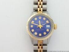 Ladies Vintage 18K Gold Stainless Steel Rolex Datejust 6517 Diamond Watch