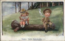 Little Boy as Soldier Smoking Cute Little Girl TINKER TAILOR SOLDIER Gilson PC