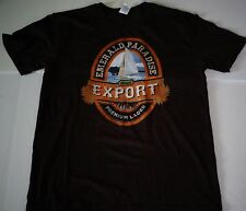 Emerald Paradise Island Brown T-Shirt Size Large Premium Lager Export New
