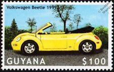 1999 VOLKSWAGEN VW New BEETLE Convertible Car Stamp