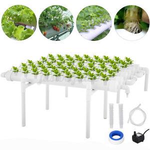 54 Löcher Hydrokultur Hydroponik Pflanzen Wachsen Rohr Bewässerungssystem DE