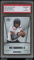PAT MAHOMES II 2017 LEAF DRAFT SILVER 1ST GRADED 10 ROOKIE CARD CHIEFS (Patrick)