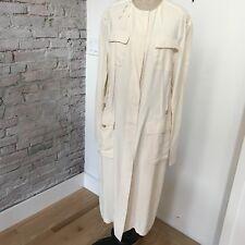 Donna Karan Women's Evening Coat Deconstructed Ivory Dress Coat 46 10