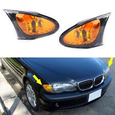 Pair Front Amber Corner Light Turn Signal Lamp Fit For BMW E46 3' Sedan 2002-05