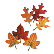 Autumn Leaves 12 Piece Thanksgiving Fall Decoration