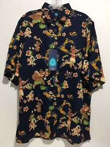 Disney Pixar MOANA Aloha Reyn Spooner Exclusive Hawaiian Shirt Size S Small READ