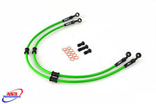 KAWASAKI ZX6R ZX 6 R 2005-2006 AS3 VENHILL BRAIDED FRONT BRAKE LINES HOSES RACE
