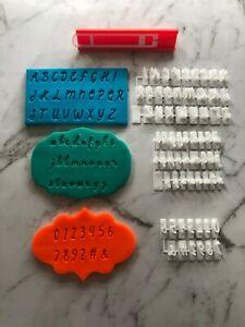 Custom Embossing Font Script Cursive Decorating Baking Fondant Stamp Small SIze