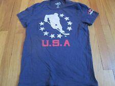 NEW USA HOCKEY TEAM RETRO BLUE T-SHIRT SIZE S usa olympics