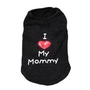 """Dog Puppy Shirt Pet Clothes Clothing """" I Love My Mommy Daddy"""" for Yorkie Maltese"""