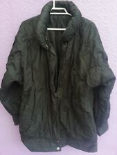 Black warm winter coat to fit UK size 10-12 zip up and press buttons silk lining