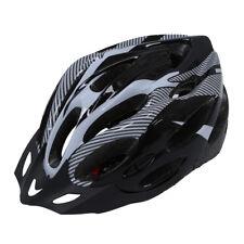 Casco Bici Adulto Regolabile Nero Bianco con Visiera Regolatore AB