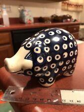 Boleslawiec Dana Polish Pottery Stoneware Slavic Piggy Bank FREE SHIPPING