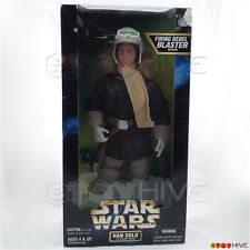 "Star Wars Action Collection Han Solo in Hoth Gear 12"" figure by Kenner worn box"