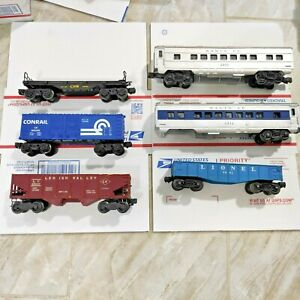 Look! Lot of 6 Lionel Trains  Cars ! C4-C6  Condition .For Part or repair .