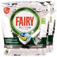2x Fairy Platinum All in One Geschirrspültabs 75 Tabs
