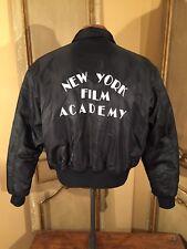 Vintage NEW YORK FILM ACADEMY USAF MA -1 Pilot Flight Jacket Size Large Nylon