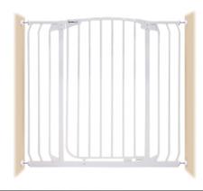 New listing Bindaboo Hallway Pet Gate, Swing Close, White, Extra Tall Zoe B1123 Expandable