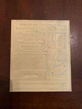1934 Miracle Parker Vacumatic Pen Advertising Newspaper Flong Print Mat Mold