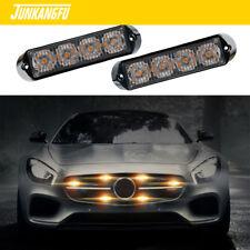 4LED Amber Light Flash Emergency Car Vehicle Warning Strobe Flashing bright