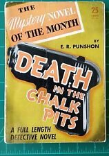 Death in the Chalk Pits E.R. Punshon 1941? Mystery of the Month No. 26 Softcover
