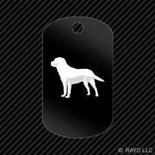 Golden Retriever Keychain GI dog tag engraved many colors  dog canine pet