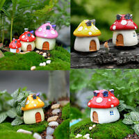 Secret Garden Fairy Mushroom House Solar Decorative Garden Ornament Size XS/S/M