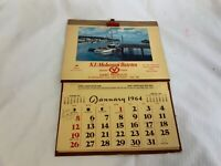 Vintage New London and Mohegan Dairies Conn 1964 Calendar