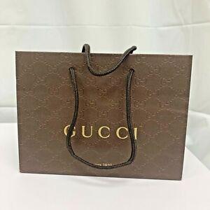 "GUCCI 9 x 7 x 3"" Small Shopping Bag Gift Tote Paper Bag"