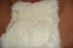 "32"" White Faux Fur Plush Fabric for Crafts Costuming"